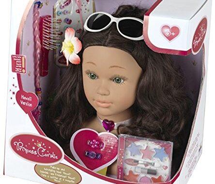 Ma puce a testé la Tête à coiffer et à maquiller Hawaï Princess Coralie de Klein