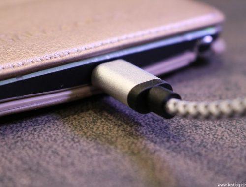 Accessoire informatique : Câble micro-USB vers USB 2.0 en nylon tressé, compatible charge rapide