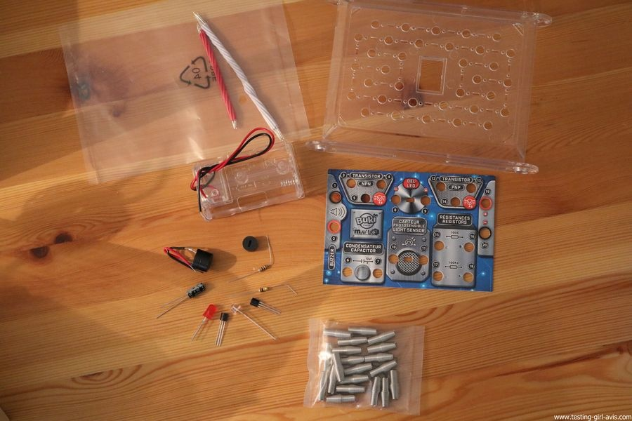 Buki - Jeu Scientifique Mini Lab Electronique - Construis ton alarme - Contenu
