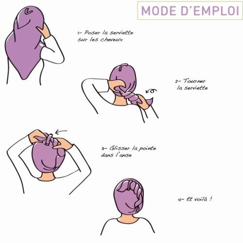 la Serviette à Cheveux - Les Tendances d'Emma - mode d'emploi