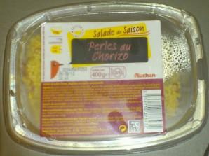 Auchan Salade de Saison Perles au Chorizo