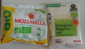 mozarella et parmesan auchan bio