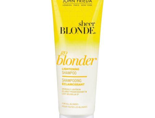 John Frieda Sheer Blonde Shampooing Go Blonder Eclaircissant pour Cheveux Blonds