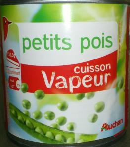 Petits Pois Vapeur Auchan