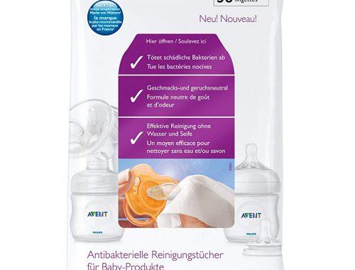 Philips Avent - Lingettes Antibactériennes pour Sucette ou Biberons