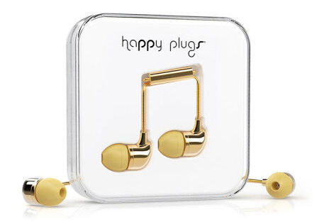 Ecouteurs intra-auriculaires Happy Plugs EarBud Deluxe Edition - Or