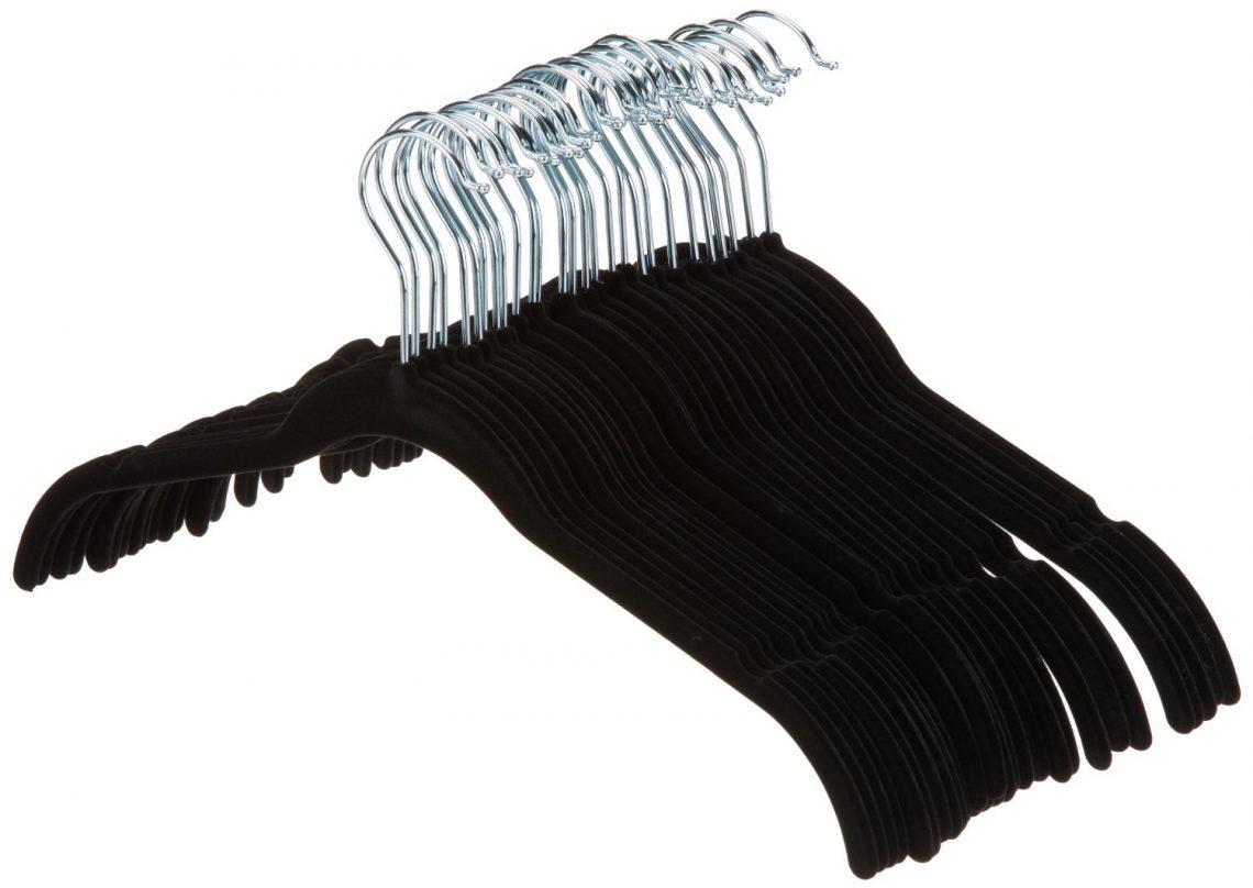 cintres en velours pour chemises/robes Noir AmazonBasics