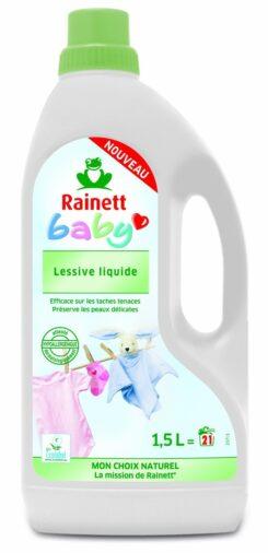 J'ai testé la Lessive Liquide Ecologique Hypoallergénique pour Bébé Rainett