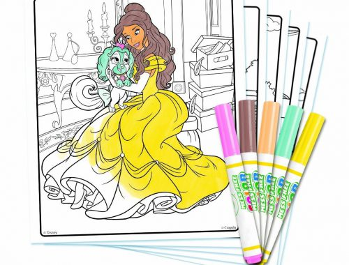 Livre à Colorier Crayola Kit Princess Palace Pets Disney