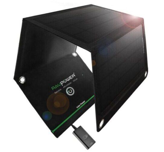 J'ai testé le chargeur solaire pliable 9W, 1,8A de RAVPower