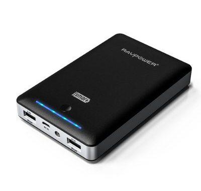 Le chargeur Batterie Externe RAVPower 13000mAh Double port USB iSmart et lampe de poche