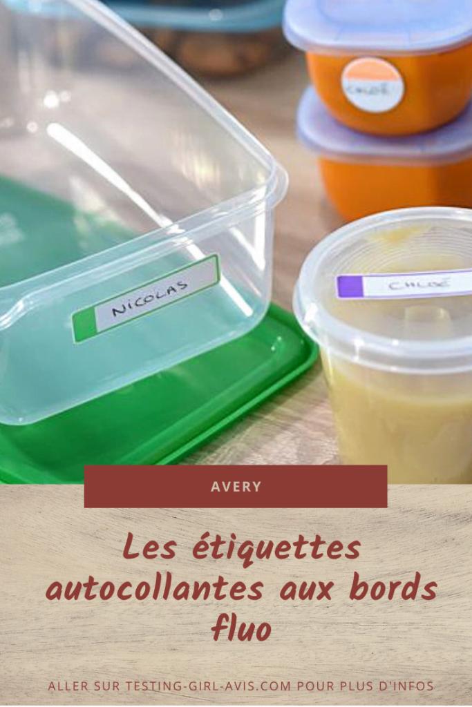 Les étiquettes autocollantes aux bords fluo Avery Pin BB - Testing-Girl-Avis.com Image Pinterest