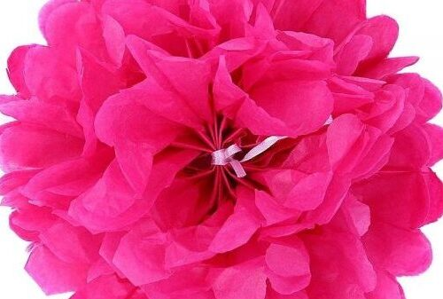 L'anniversaire de ma puce avec une déco fleurs en papier de soie Pom Poms Ohuhu®