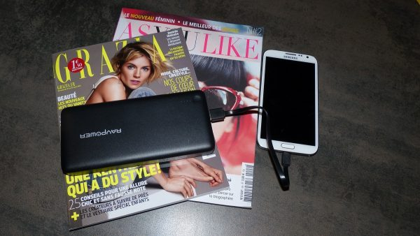 Le chargeur portable RAVPower 26800mAh 3 sorties 5,5A Technologie iSmart