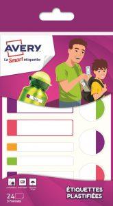 Les étiquettes avec bords fluo d'Avery (Family Pack)