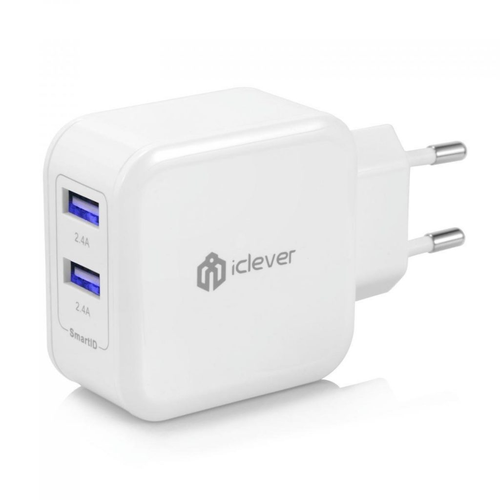 chargeur 2 USB secteur iClever SmartID 4,8A