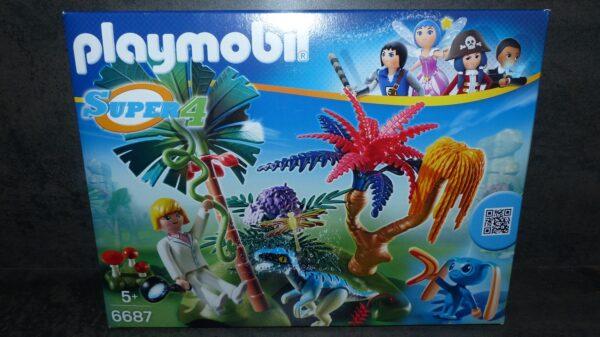 L'île perdue avec Alien (Super 4) de Playmobil