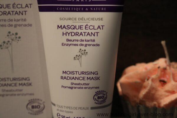 Le masque éclat hydratant Source délicieuse de Cattier