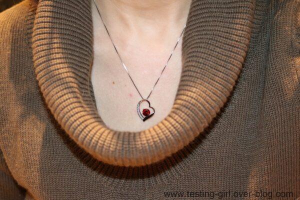 Le pendentif coeur en argent J.Rosée