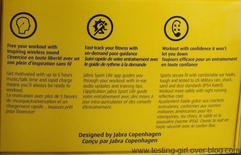 Les écouteurs sans fil de sport Jabra Sport Pace