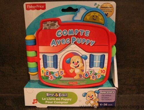 Le livre Compte avec Puppy de Fisher Price