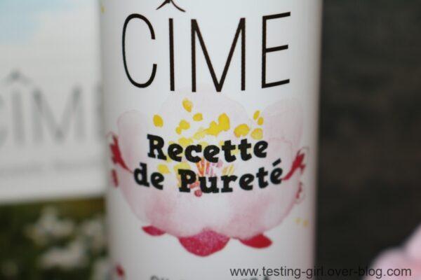 recette de pureté, huile démaquillante & nettoyante de Cîme