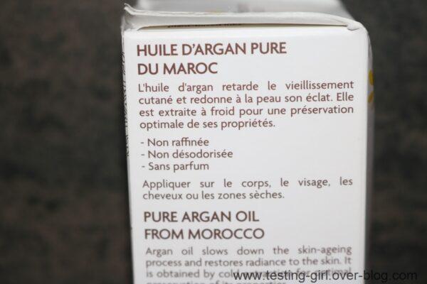 L'huile d'argan Bio de Fleurance Nature