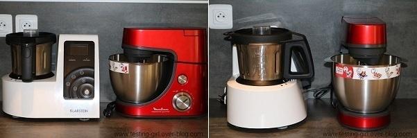 robot pâtissier Masterchef Gourmet Rouge avec Blender et Râpe de Moulinex