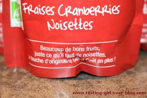 gourdes bio Fraises Cranberries Noisettes Good Goûter de Good Goût
