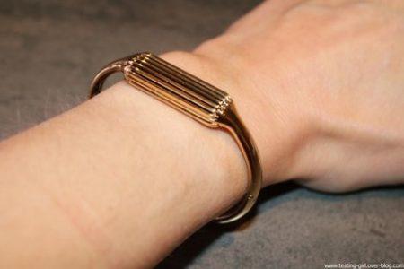 Bracelet connecté Flex 2 Fitbit bracelet métal or