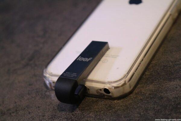 Leef iBridge 3 memoire externe Apple iOS sur iPhone 5c
