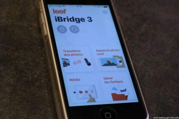 Leef iBridge 3 memoire externe Apple iOS Appli