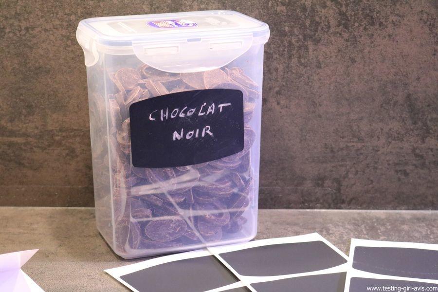 Une étiquette effaçable façon ardoise pour les bocaux