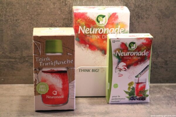 Neuronade think drink brain food boisson bouteille