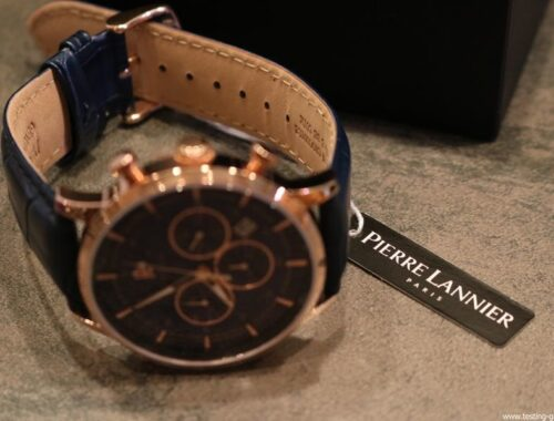 montre homme pierre lannier elegance chrono bleu avis