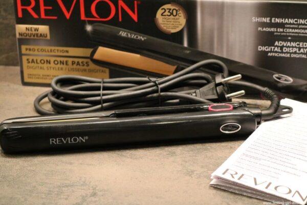 Fer à lisser Salon One-Pass Pro Collection Lisseur digital de Revlon test avis