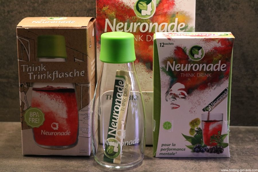 Neuronade think drink brain food boisson bouteille avis test