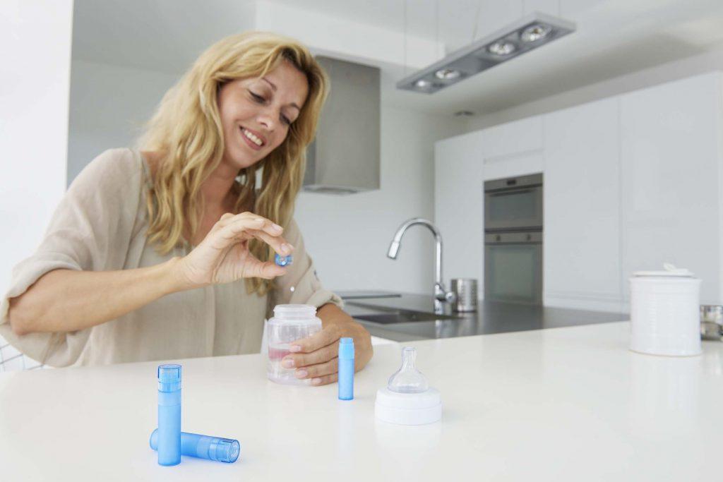 poussee dentaire bebe homeopathie preparation biberon