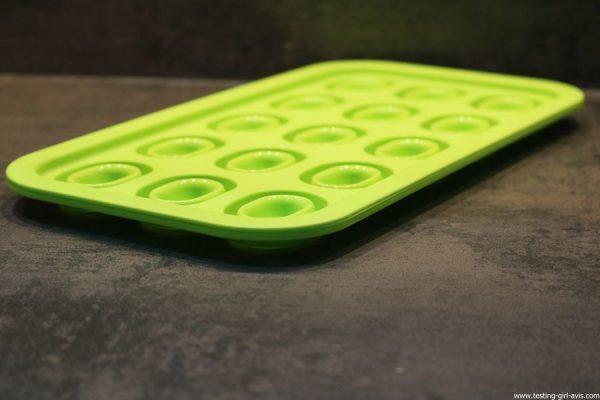 bac a glacons levivo pop up vert rangement ultra-plat