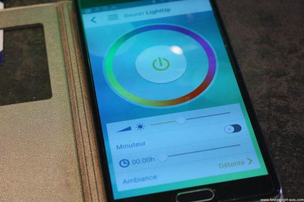 Beurer reveil lumineux WL75 simulateur aube connecte bluetooth avis test appli LightUp