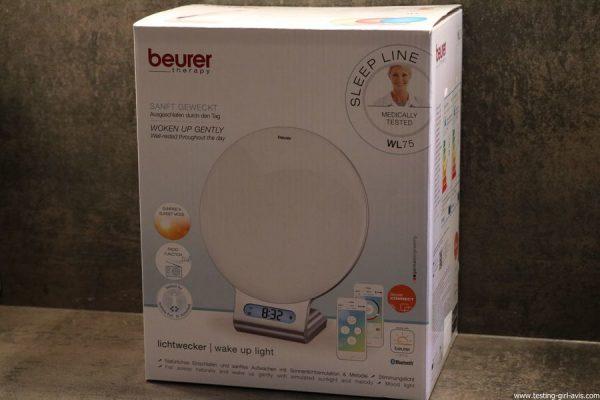 Beurer reveil lumineux WL75 simulateur aube connecte bluetooth emballage