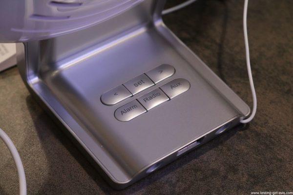 Beurer reveil lumineux WL75 simulateur aube connecte bluetooth avis test boutons de commande