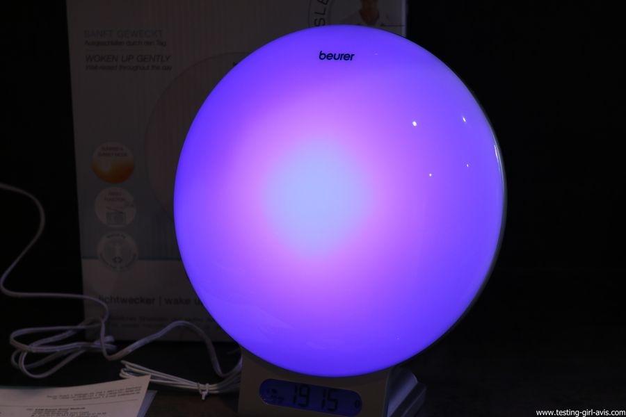 Beurer reveil lumineux WL75 simulateur aube connecte bluetooth avis test lumiere ambiance