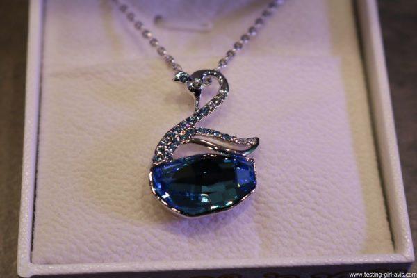 Le collier femme Lac des Cygnes collection nature aux cristaux de Swarovski Lady Colour