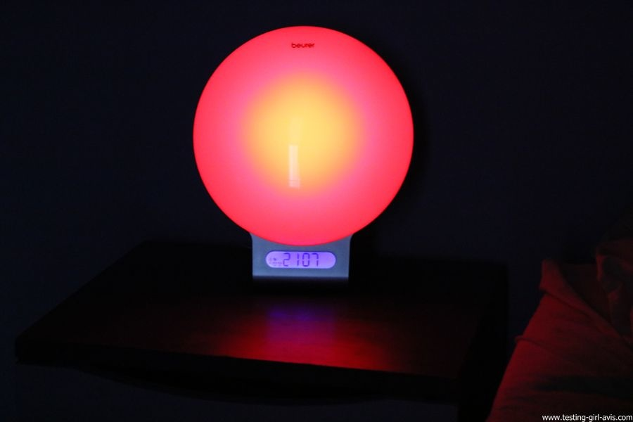 Beurer reveil lumineux WL75 simulateur aube connecte bluetooth avis test coucher soleil