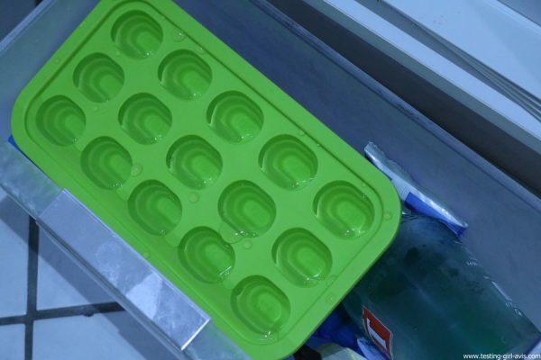 bac a glacons levivo pop up vert dans congelateur