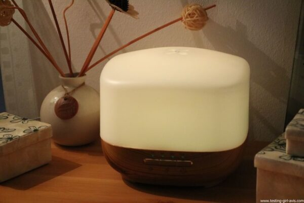 Diffuseur d'Huiles Essentielles Aromatherapie 500mL Anjou Humidificateur Ultrasonique sans BPA ambiance relaxante