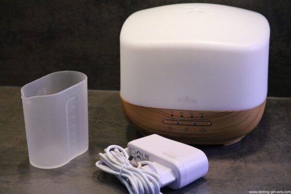 Diffuseur d'Huiles Essentielles Aromatherapie 500mL Anjou Humidificateur Ultrasonique sans BPA contenu