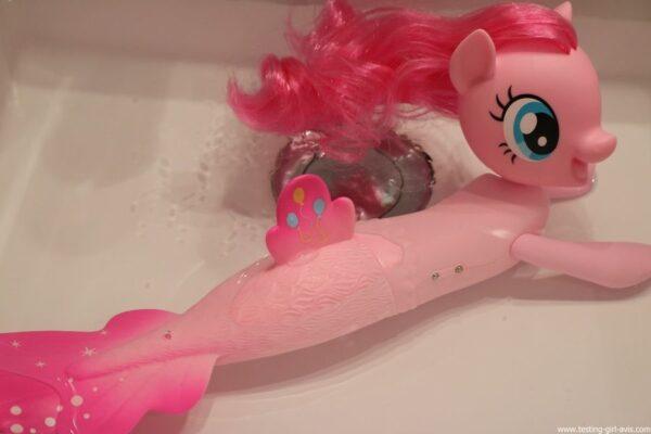 My Little Pony The Movie - Pinkie Pie Poney - Sirène Nageuse - 15 cm - dans l'eau