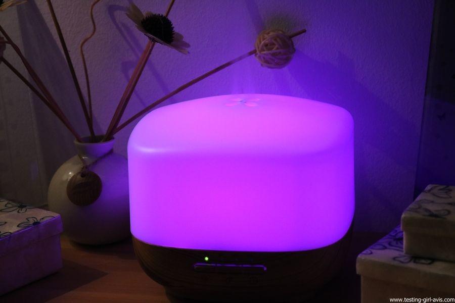 Diffuseur d'Huiles Essentielles Aromatherapie 500mL Anjou Humidificateur Ultrasonique sans BPA couleur violet